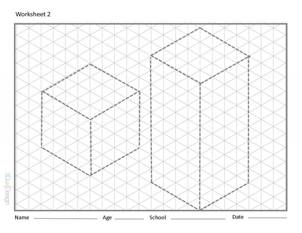 Worksheet 2 - 3DuxDesign STEAM engineering drafting challenge