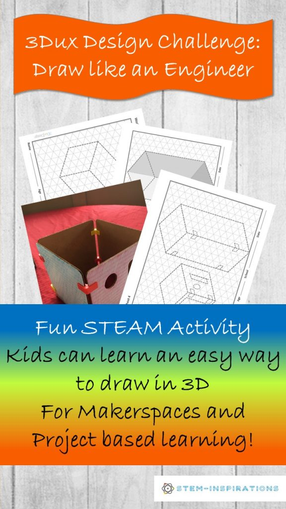 Fun STEAM activity and Engineering design challenge learn to draw in 3D