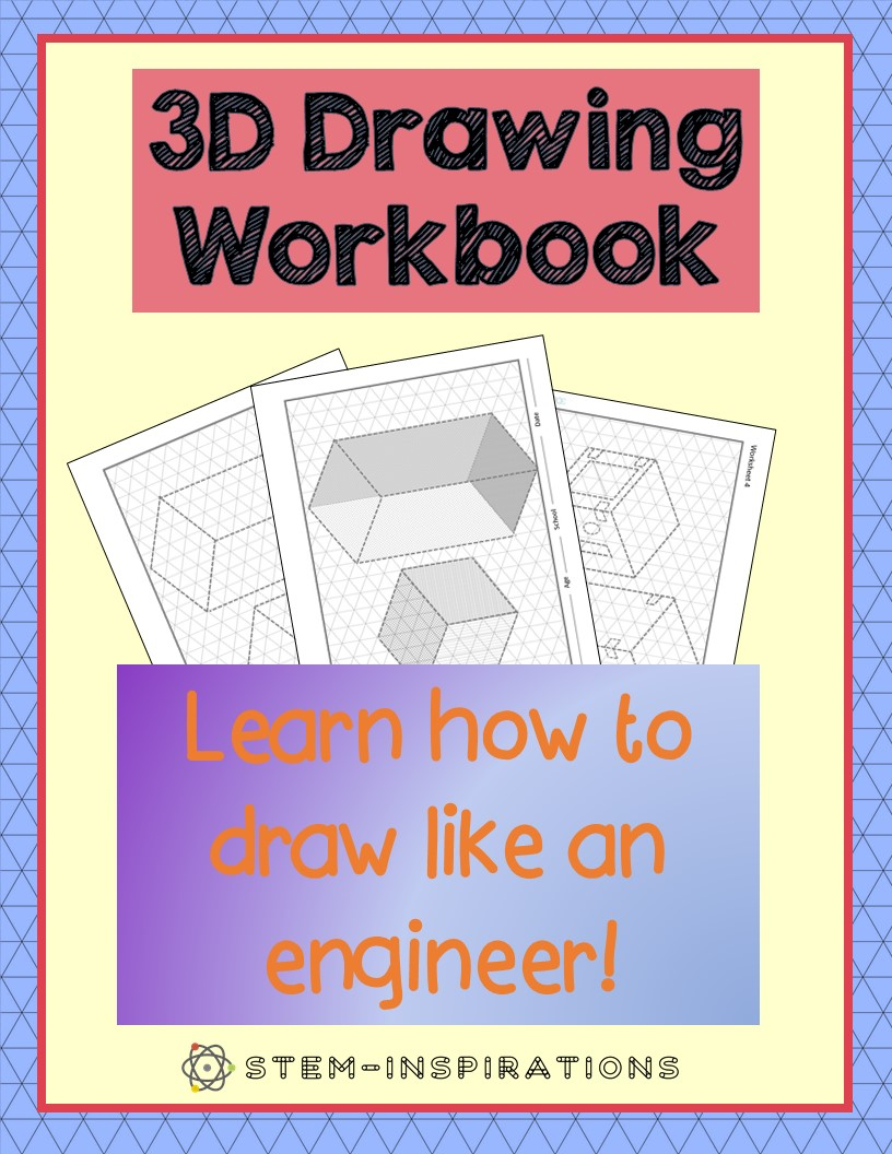 3D Drawing Workbook for Kids