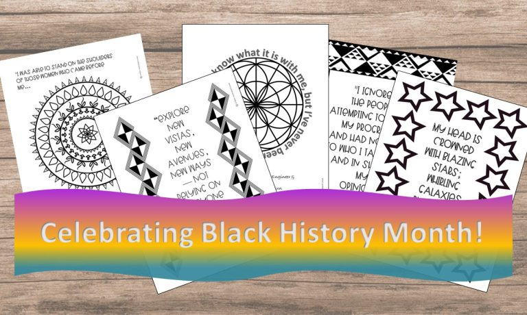 Coloring Pages Inspirational STEM Quotes for Black HIstory Month